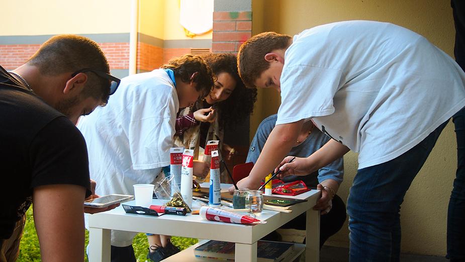 Atelier fresque pour le local